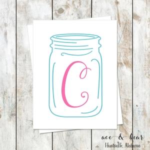 ball jar wall print