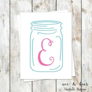 ball jar stationery