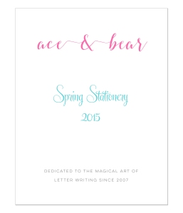 Ace and Bear Stationery Look Book