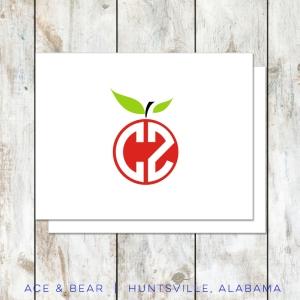 apple teacher notecards