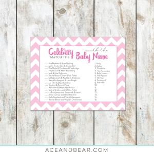 Pink Celebrity Baby Shower Game